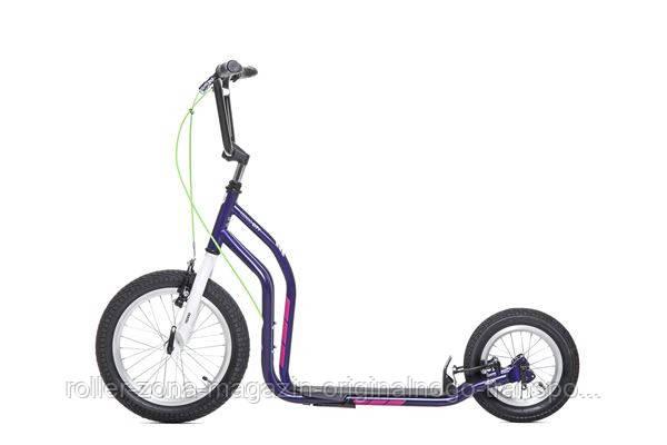 Самокат Yedoo City New фиолетовый с белым