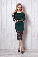 Платье мод №262-1, размеры 44,46 морская волна