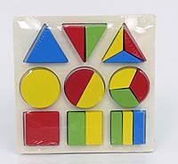 Деревянные фигуры геометрические для детей