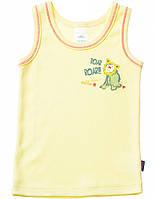 Майка для мальчика:цвет -Желтый,размер-68 см,размер 3-6 мес.