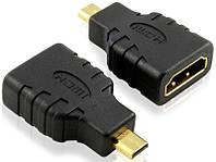 Переходник гнездо HDMI F/ штекер MICRO HDMI (прямой)