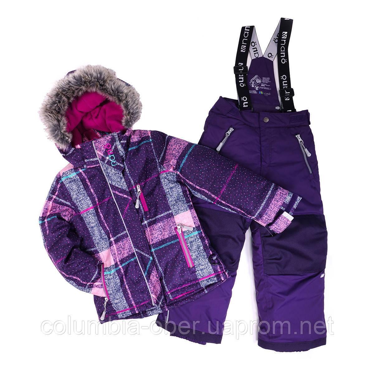 Зимний костюм для девочки NANO 250 M F16. Размеры 18 мес  и 7 лет.