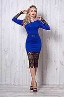 Платье мод №262-3, размеры 44,46,48 электрик