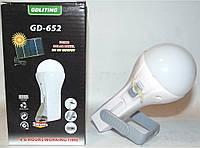 Лампа на солнечной батарее GD 625/652, светодиодный светильник, аккумуляторный фонарь