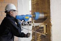 Алмазное сверление, сверление бетона, отверстие в бетоне