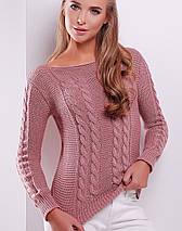 Женский вязаный свитер косой (133 mrs), фото 3