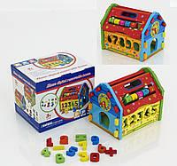 Логический домик игрушка из дерева