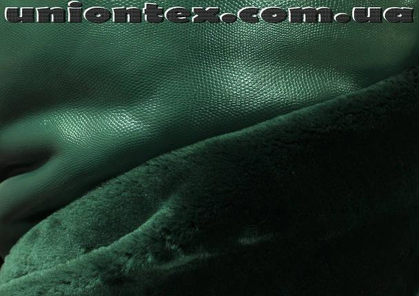 Мех мутон дубляж темно- зеленый, фото 2