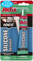 Герметик силиконовый Akfix 100E универсальный  50 мл.