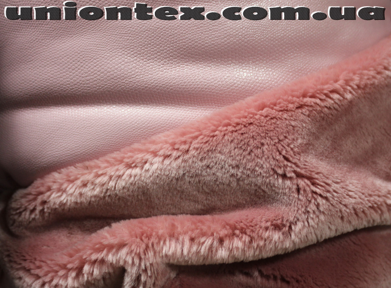 Мех мутон дубляж розовый