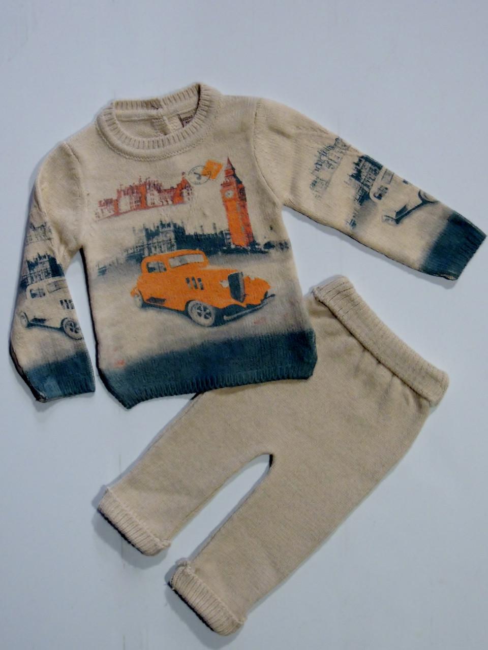 тёплый вязаный костюм на мальчика 36912 месяцев цена 600 грн