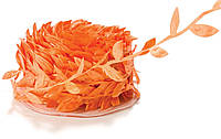 Лента Лиана с листиками Оранжевая 1.7 см Плющ 1 м/уп
