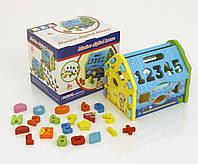 Деревянная игра Домик с цифрами и фигурками