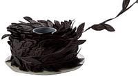 Лента Лиана с листиками Черная 1.7 см Плющ 1 м/уп