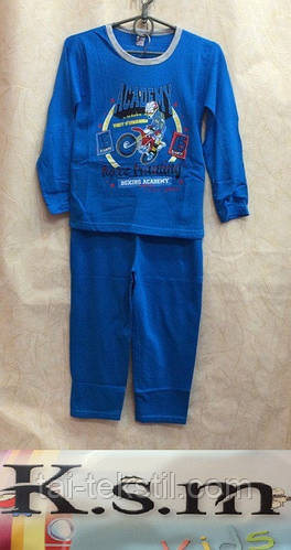 KSM пижама на мальчика с начесом БАЙКА  (5-14 лет), фото 2