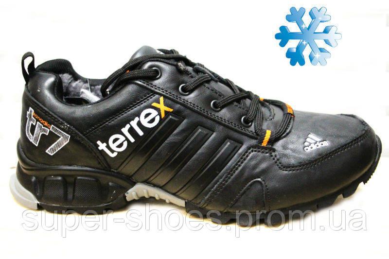 Зимние мужские кроссовки адидас (Adidas Terrex tr7 Black) f6bcceab720cd