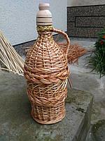 Плетена бутылка из лозы 1 л