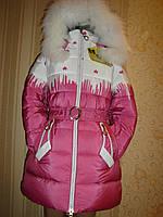 """Пальто для девочки зимнее """"Сердце-2"""",(,5,6,7, лет)"""