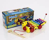 Деревянная игрушка Ксилофон собачка
