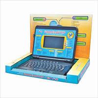Детский развивающий ноутбук JT 7072 с мышкой, русский/английский, наушники