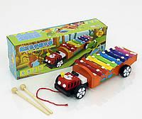 Игрушка деревянная Машинка-ксилофон