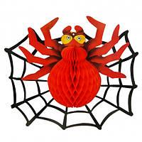 Декор 3D Паук с паутиной