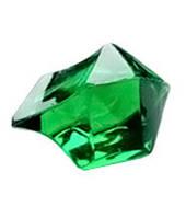 Кристаллы-каунтеры, 10 штук (зелёный)  (Acrylic crystall counters, 10)