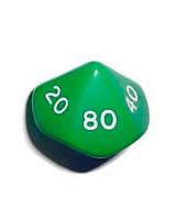 Кубик d00 (зелёный)  (Dice d00 Opaque)