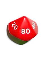 Кубик d00 (красный)  (Dice d00 Opaque)