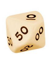 Кубик d00 (слоновья кость) (Dice d00 Opaque)
