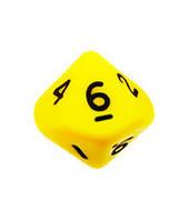 Кубик d10 (жёлтый)  (Dice d10 Opaque)