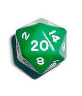 Кубик d20 (зелёный)  (Dice d20 Opaque)