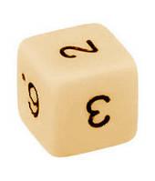 Кубик d6 (слоновья кость)  (Dice d6 Opaque)