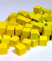 Кубики, каунтеры, токены, 5 шт (жёлтый) (Cubes, counters, tokens 5 pieces)