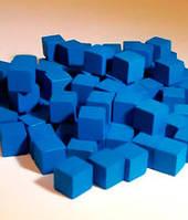 Кубики, каунтеры, токены, 5 шт (синий)  (Cubes, counters, tokens 5 pieces)