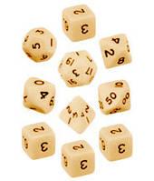 Набор кубиков d00, d4, 4хd6, d8, d10, d12, d20 (слоновья кость)  (Dice Set Opaque (10))
