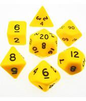 Набор кубиков d00, d4, d6, d8, d10, d12, d20 (жёлтый) (Dice Set Opaque (7) )