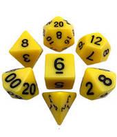Набор кубиков d00, d4, d6, d8, d10, d12, d20 (жёлтый) T&G  (Dice Set Opaque T&G (7))