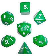 Набор кубиков d00, d4, d6, d8, d10, d12, d20 (зелёный) (Dice Set Opaque (7) )