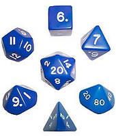 Набор кубиков d00, d4, d6, d8, d10, d12, d20 (синий)  (Dice Set Opaque (7) )