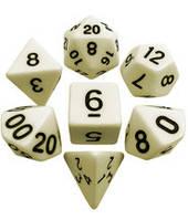 Набор кубиков d00, d4, d6, d8, d10, d12, d20 (слоновья кость) T&G  (Dice Set Opaque T&G (7))