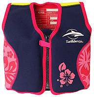 Konfidence - Детский плавательный жилет - поплавок 6-7 лет, цвет Navy/Pink Hibiscus, фото 1