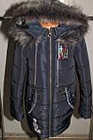 Пальто на девочку зимнее синее 36,38 р Новинка., фото 2