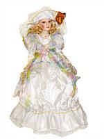 """Кукла фарфоровая в белом платье 22"""" №4"""