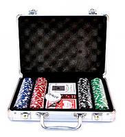 Набор для покера 200 фишек метал кейс