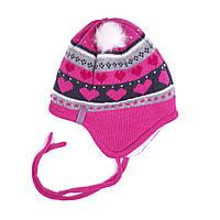 Зимняя детская шапка для девочки Nano 2488 TC F16. Размер  0/6 мес. 9/12 мес и 12/24 мес.