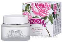 """Ночной крем для лица """"Rose"""" с натуральным розовым маслом """"Болгарская роза - Карлово"""""""