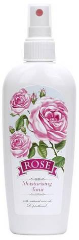 Увлажняющий тоник для лица с маслом розы Болгарская Роза Rose 150 мл, фото 2