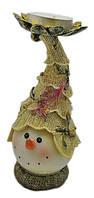 Снеговик подсвечник 16 см