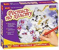 """Детский набор для творчества """"Роспись по холсту"""" - """"Котята""""."""
